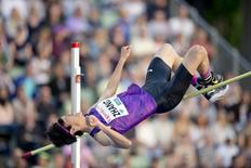 Guowei Zhang of China competes in the High Jump at the Diamond League athletics competition at the Bislett Stadium in Oslo June 11, 2015.   REUTERS/Jon Olav Nesvold/NTB Scanpix
