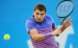 Tennis - Aegon Championships - Queens Club, London - 15/6/15 Men's Singles - Bulgaria's Grigor Dimitrov in action during the first round  Action Images via Reuters / Paul Childs Livepic