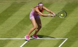 Aegon Classic - Edgbaston Priory Club, Birmingham - 16/6/15. Belarus' Victoria Azarenka in action during the first round. Action Images via Reuters / Andrew Boyers Livepic