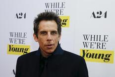 """Ator Ben Stiller em lançamento do filme """"Enquanto Somos Jovens"""", em Nova York.  23/3/2015.   REUTERS/Shannon Stapleton"""