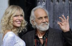 """Comedian Tommy Chong (R) and his wife Shelby Chong attend Spike TV's """"Guys Choice"""" awards in Los Angeles June 7, 2014. REUTERS/Phil McCarten"""