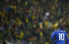 Neymar na partida Brasil x Colômbia. 17/06/2015 REUTERS/Ricardo Moraes