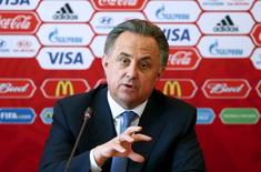 Russian Sports Minister Vitaly Mutko attends a news conference in Samara, Russia, June 10, 2015. REUTERS/Maxim Zmeyev