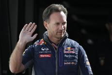 Red Bull Team Principal Christian Horner arrives for practice. Reuters / Max Rossi