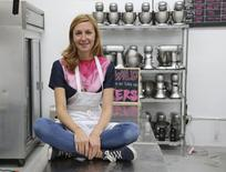Celebrity chef Christina Tosi is shown in this  handout provided by Milk Bar in Brooklyn, New York June 22, 2015. REUTERS/Danielle Kosann/The New Potato/Handout