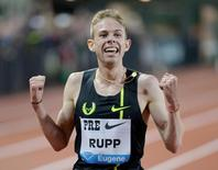 File photo of Galen Rupp (USA) taken at Hayward Field, May 30, 2014. Credit: Kirby Lee-USA TODAY Sports/Files