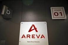 Areva a annoncé lundi avoir lancé le processus de cession de sa filiale Canberra, spécialisée dans les instruments et systèmes de mesures nucléaires. /Photo d'archives/REUTERS/Charles Platiau