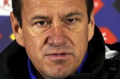 O técnico Dunga concede entrevista durante a Copa América.  26/6/2015.  REUTERS/Carlos Garcia Rawlins