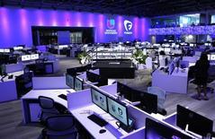La sala de prensa de Univision y Fusion networks, en Doral, Florida, 28 de agosto de 2013. Univision Holdings Inc, dueña de la red de televisión en español Univision Network, presentó documentos al regulador para realizar una oferta pública inicial de acciones comunes clase A en Estados Unidos. REUTERS/Joe Skipper