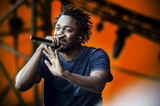 Kendrick Lamar at the Orange Stage, Roskilde Festival July 3, 2015. REUTERS/Simon Laessoee/Scanpix Denmark
