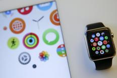 The Apple Watch is seen on display at the Apple retail store on 5th avenue in New York June 17, 2015.  REUTERS/Shannon Stapleton