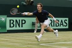Tennis - Great Britain v France - Davis Cup World Group Quarter Final - Queen?s Club, London - 19/7/15 Great Britain's Andy Murray in action Action Images via Reuters / Andrew Boyers Livepic