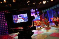 Gravação de programa de TV em Xangai. 28/07/2013 REUTERS/Carlos Barria (