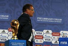 Secretário-geral da Fifa, Jérôme Valcke, durante evento em São Petersburgo.  24/07/2015  REUTERS/Grigory Dukor