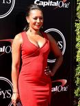 Mel B., former Spice Girl, arrives for the 2015 ESPY's award show at Nokia Theater. Mandatory Credit: Jayne Kamin-Oncea-USA TODAY Sports