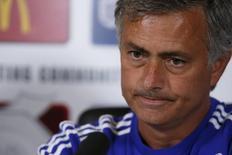 Técnico do Chelsea, José Mourinho, durante entrevista coletiva no centro de treinamento do clube. 31/07/2015 REUTERS/Action Images/Andrew Couldridge