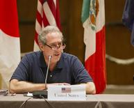 US Trade Rep. Michael Fromam heads a meeting at the Trans-Pacific Partnership (TPP) in Lahaina, Maui, Hawaii July 28, 2015.   REUTERS/Marco Garcia