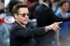 "Ator Robert Downey Jr. na pré-estreia europeia de ""Vingadores: Era de Ultron"", em Londres, em abril. 21/04/2015 REUTERS/Stefan Wermuth"