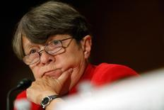 U.S. Securities and Exchange Commission Chair Mary Jo White testifies about Wall Street reform before a Senate Banking Committee hearing on Capitol Hill in Washington September 9, 2014. REUTERS/Jonathan Ernst