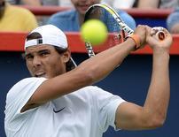Rafael Nadal treina em Montreal. 7/8/2015.  REUTERS/Eric Bolte-USA TODAY Sports