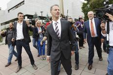 Nigel Wright, former chief of staff to Prime Minister Stephen Harper, leaves the Ontario Court of Justice in Ottawa August 12, 2015.  REUTERS/Blair Gable