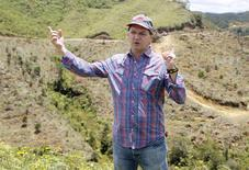El gerente en Colombia de Red Eagle Mining, Rafael Silva, en una entrevista en Santa Rosa de Osos, ago 11 2015. La canadiense Red Eagle Mining invertirá 120 millones de dólares en la construcción de una mina subterránea para extraer oro en el noroeste de Colombia, el primer proyecto aurífero en el país en más de dos décadas, dijo un alto ejecutivo de la empresa.   REUTERS/Fredy Builes