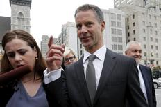Nigel Wright, former chief of staff to Canadian Prime Minister Stephen Harper, arrives at the courthouse in Ottawa, Canada, August 14, 2015. REUTERS/Chris Wattie