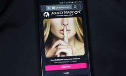 Site de encontros extraconjugais Ashley Madison em fotografia ilustrativa.  20/08/2015    REUTERS/Mark Blinch