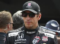 IndyCar Series driver driver Justin Wilson is introduced before the 2015 Indianapolis 500 at Indianapolis Motor  Speedway in Indianapolis, Indiana, in this file photo taken May 24, 2015. Mandatory Credit: Mark J. Rebilas-USA TODAY Sports/Files