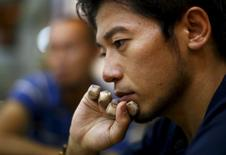 Japanese climber Nobukazu Kuriki speaks during an interview in Kathmandu in this August 22, 2015 file photo.  REUTERS/Navesh Chitrakar/Files