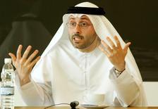 Chief Operating Officer of Mubadala Development Waleed Al-Mokarrab speaks at a Reuters Summit in Dubai March 26, 2007. REUTERS/Mohammed Salem (UNITED ARAB EMIRATES) - RTR1NXBS