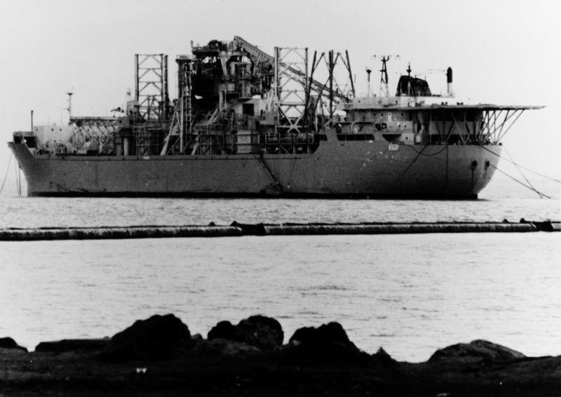 CIA spy ship built to raise Soviet sub becomes victim of oil slump