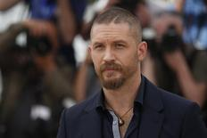 """Cast member Tom Hardy poses during a photocall for the film """"Mad Max: Fury Road"""" out of competition at the 68th Cannes Film Festival in Cannes, southern France, May 14, 2015. REUTERS/Benoit Tessier"""