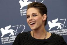 """Actress Kristen Stewart poses during the photocall for the movie """" Equals  """" at the 72nd Venice Film Festival, northern Italy September 5, 2015. REUTERS/Stefano Rellandini"""