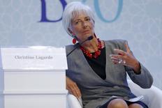 La Réserve fédérale des Etats-Unis ne doit pas précipiter sa décision quant à un prochain relèvement des taux d'intérêt et elle ne devra agir que lorsqu'elle aura la certitude de ne pas devoir faire machine arrière par la suite, a déclaré Christine Lagarde. /Photo prise le 4 septembre 2015/REUTERS/Umit Bektas