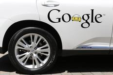 A Google self-driving vehicle is parked at the Computer History Museum after a presentation in Mountain View, California May 13, 2014. REUTERS/Stephen Lam/Files