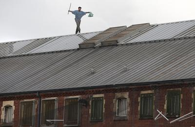 Prison roof protest