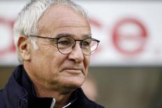 Técnico do Leicester City, Claudio Ranieri, durante partida na Inglaterra.  25/08/2015 Mandatory Credit: Action Images / John Clifton Livepic