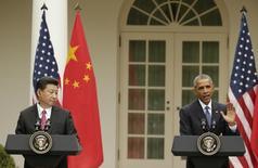Obama e Xi na Casa Branca. 25/9/2015 REUTERS/Gary Cameron