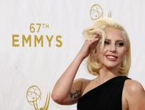 Lady Gaga durante premiação do Emmy em Los Angeles.  20/9/2015.  REUTERS/Mario Anzuoni