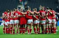 Rugby Union - France v Canada - IRB Rugby World Cup 2015 Pool D - Stadium MK, Milton Keynes, England - 1/10/15 Canada players huddle at the end of the match Reuters / Eddie Keogh Livepic