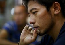 Japanese climber Kuriki Nobukazu speaks during an interview in Kathmandu, August 22, 2015.  REUTERS/Navesh Chitrakar