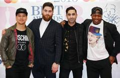 Pop group Rudimental (L-R) members Piers Agget, Kesi Dryden, Amir Amor and DJ Locksmith arrive for the BRIT music awards at the O2 Arena in Greenwich, London, February 25, 2015. REUTERS/Suzanne Plunkett/Files