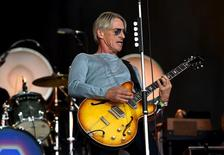 Paul Weller performs on the Pyramid stage at Worthy Farm in Somerset during the Glastonbury Festival in Britain, June 28, 2015.  REUTERS/Dylan Martinez