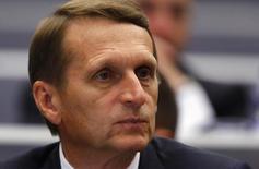 Presidente da Câmara Baixa do Parlamento russo, Sergei Naryshkin, durante evento em Genebra, na Suíça, no ano passado. 03/10/2014 REUTERS/Denis Balibouse