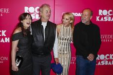 "Cast members (L-R) Zooey Deschanel, Bill Murray, Kate Hudson, and Bruce Willis arrive for the premiere of the film ""Rock the Kasbah"" in New York October 19, 2015.  REUTERS/Lucas Jackson"