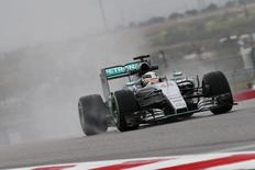 Formula One - F1 - United States Grand Prix 2015 - Circuit of the Americas, Austin, Texas, United States of America - 23/10/15 Mercedes' Lewis Hamilton in action during practice Mandatory Credit: Action Images / Hoch Zwei Livepic
