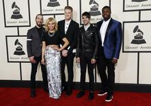 Pop group Pentatonix arrives at the 57th annual Grammy Awards in Los Angeles, California February 8, 2015.  REUTERS/Mario Anzuoni