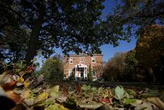 Rideau Cottage, part of the Rideau Hall grounds, is pictured in Ottawa, Canada October 26, 2015. REUTERS/Chris Wattie