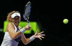 Tennis - BNP Paribas WTA Finals - Singapore Indoor Stadium, Singapore Sports Hub - 30/10/15. Spain's Garbine Muguruza in action during her round robin match Action Images via Reuters / Jeremy Lee Livepic